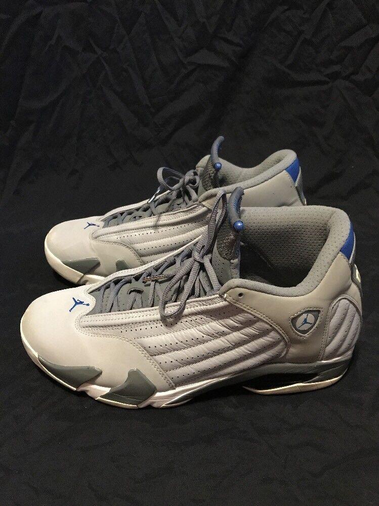 Nike air jordan 14 xiv retrò lupo grigio blu numero 13 487471-004 Uomo scarpe sportive