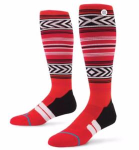 2 PAIRS Stance Pro Series Factory Mexi Moto Socks Red//Black//White Small//Medium