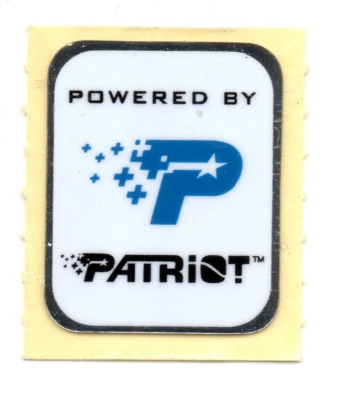 """powered By Patriot"" Decal Sticker"