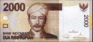 148f INDONESIA 2015 UNC 2000 Rupiah Banknote Paper Money Bill P