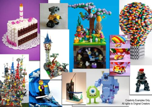 4KG LEGO BUILDING PACKS GREAT MIX FOR CREATIVE KIDS BULK x3400pc/'s!