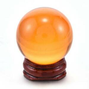 AAA-Amber-Asian-Rare-Magic-Crystal-Healing-Ball-Sphere-40mm-With-Free-Stand