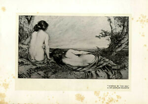 Nymphs-by-the-Sea-by-Sir-Charles-Holroyd-Kunstdruck-von-1908