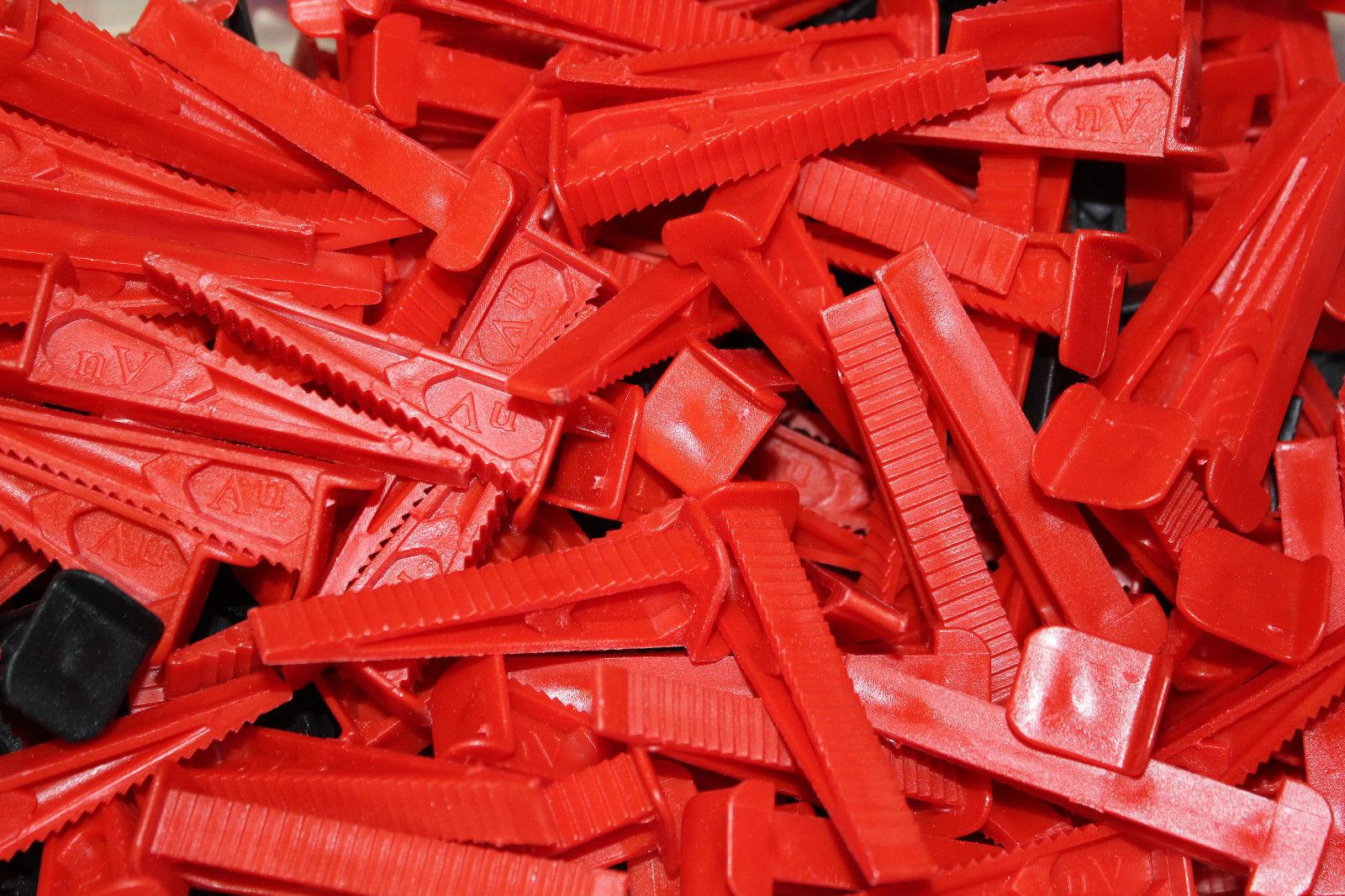 Fliesen Nivelliersystem, Verlegehilfe 3000 Laschen Laschen Laschen (1 mm) + 800 Keile + Zange | Online Store  | Langfristiger Ruf  | Moderne Technologie  f5b3ab