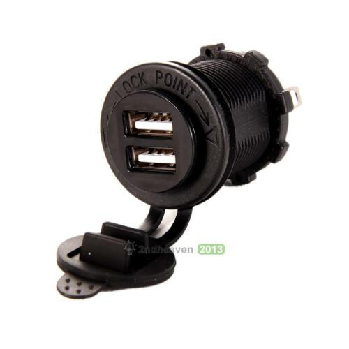 Dual USB Charger Socket Outlet 3.1 amp Panel Mount Motorcycle BEST