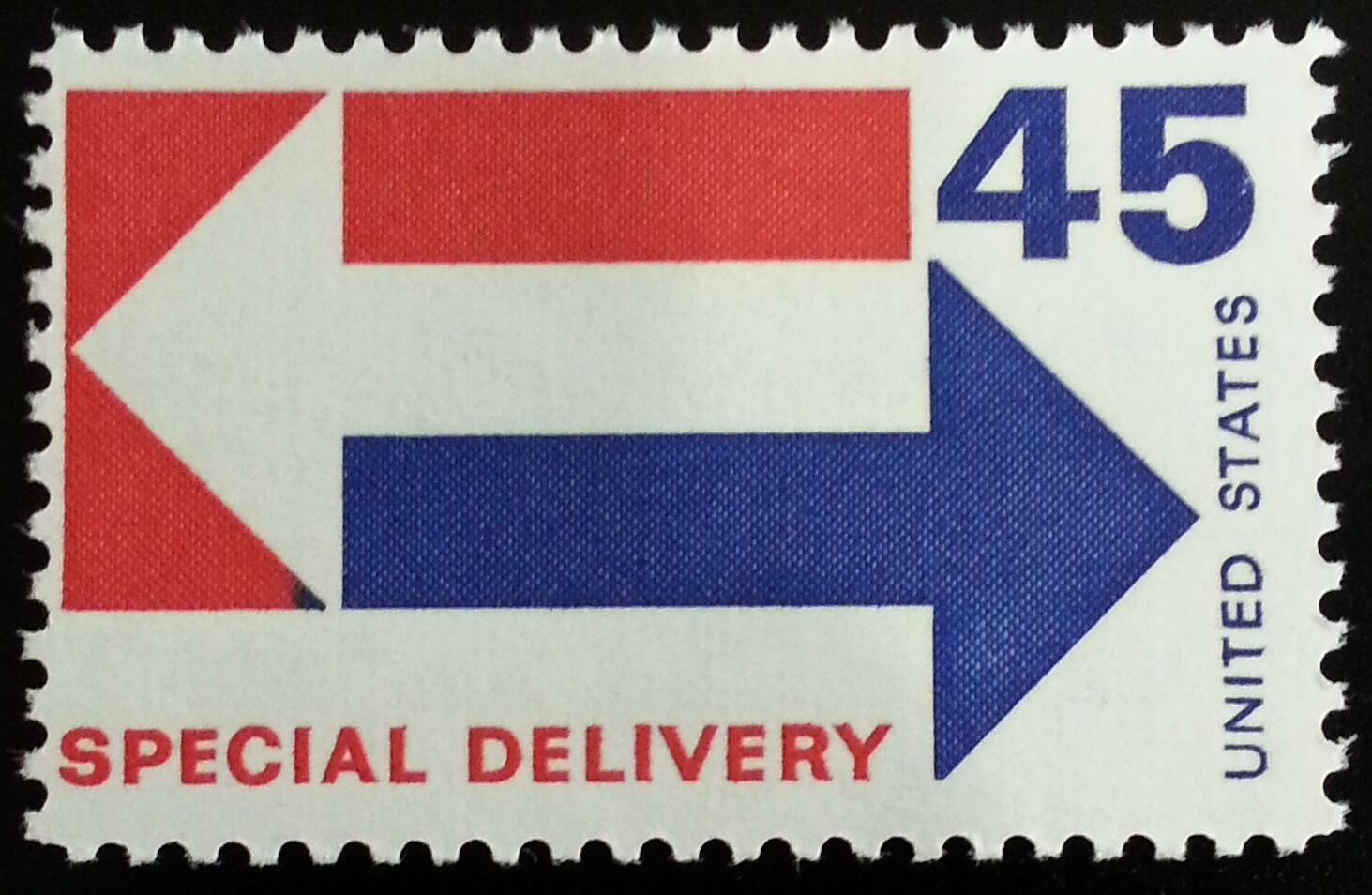1969 45c Arrows, Special Delivery Scott E22 Mint F/VF N