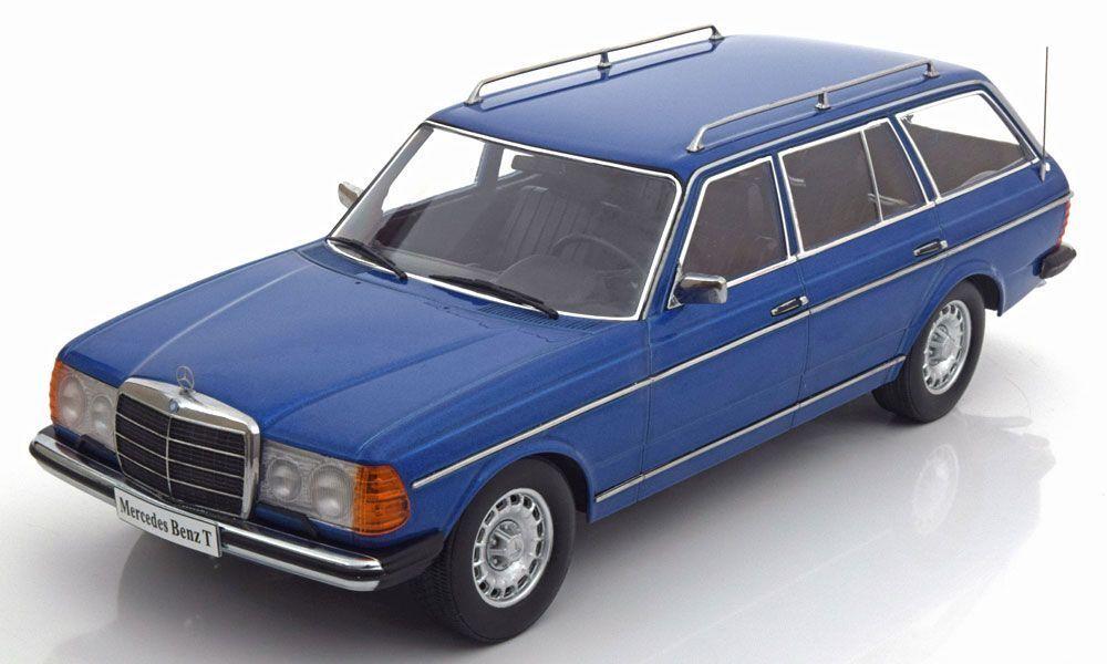 MERCEDES 250T W123 ESTATE in bluee 1 18 scale model by KK Scale Models