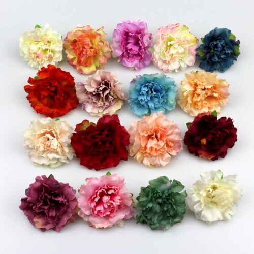 Artificial Flower Silk Rose Carnation Little Peony Heads Bulk Wedding Home Deco
