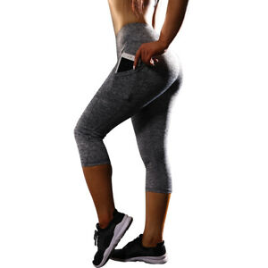 Women-Yoga-Pants-Tummy-Control-Sports-Leggings-Capri-Leggings-High-Waist-for-Gym
