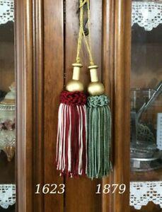 6 pz fiocco decorativo Impero verde 11 cm per chiave nappa nappina