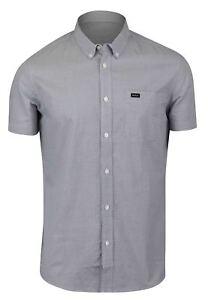 RVCA-Mens-Thatll-Do-Micro-Short-Sleeve-Shirt-Gray