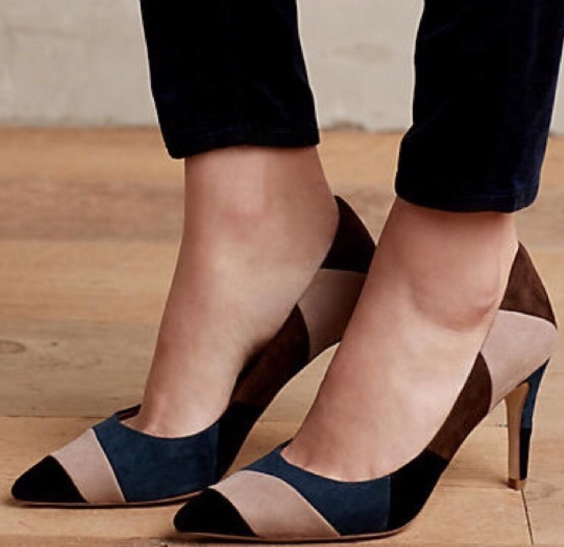 NEW Anthropologie Patchwork Pumps Size 8.5