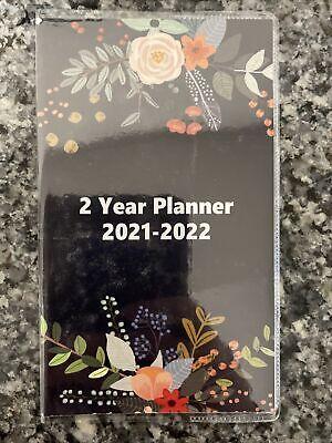 2021-2022 2 Year pocket planner Calendar Flowers Floral ...