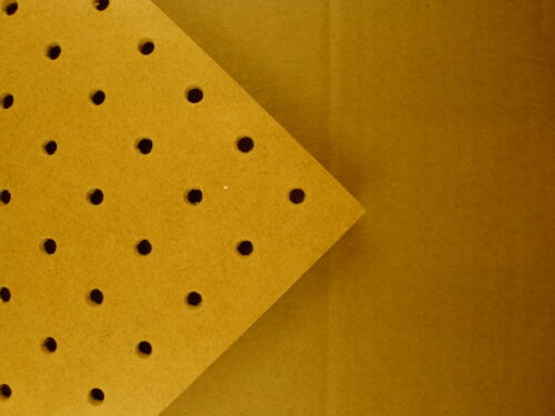 6mm wooden Pegboard 600MM X 300MM with Fixing Kit Included
