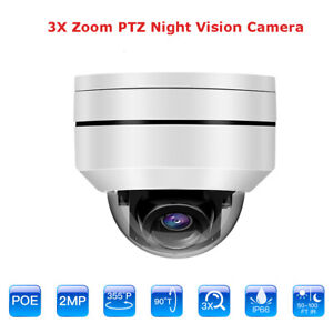 1080P-2MP-PTZ-POE-IP-Camera-3x-Optical-Zoom-Waterproof-Night-Vision-for-Monitor