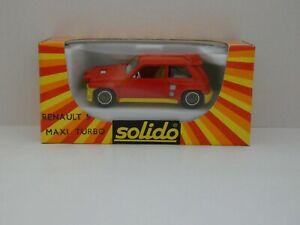 Solido-n-1353-RENAULT-5-MAXI-TURBO-neuf-en-boite-Mint-In-Box-1-43