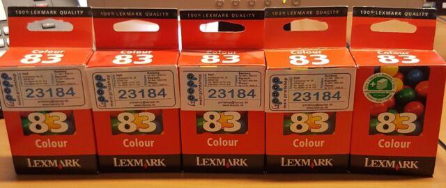Lexmark Druckkopf Nr. 83 Tintenpatrone cyan magenta gelb (18LX042E) 450 Seiten