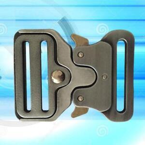 Heavy-Duty-Quick-Side-Release-Metal-Buckle-Straps-Webbing-Tactical-Belts-Bag-UK