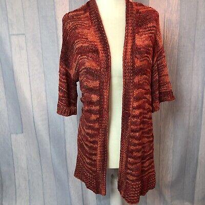 Amber Sun Nordstrom Womens Cardigan Sweater Orange Red Size M Open Front | eBay