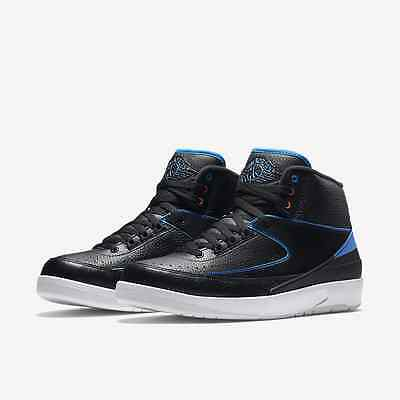 NIKE AIR JORDAN RETRO 2 RADIO RAHEEM BLACK BLUE GS 834276-015 Youth Women 070a72df8c