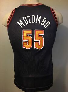 Image is loading Vtg-Denver-Nuggets-Jersey-Dikembe-Mutombo-55-Champion- 7198c5e28