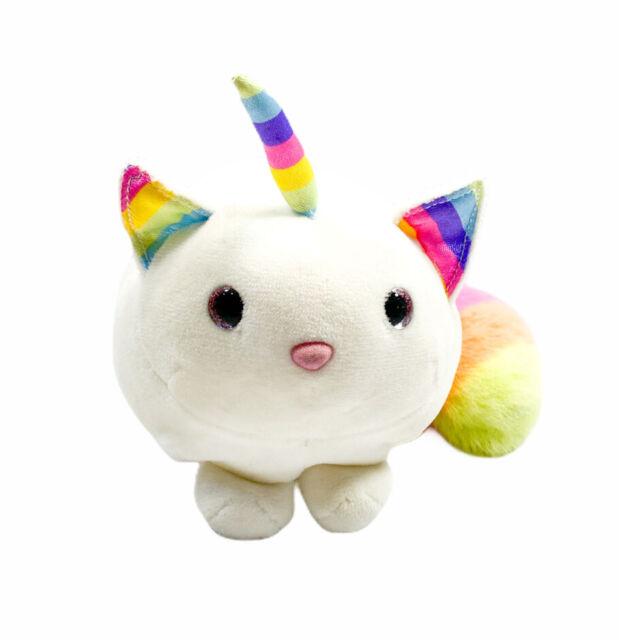 Ziggy Caticorn Macaroon Douglas Cuddle Toys  #4700 NIT Rainbow Ears Horn Tail