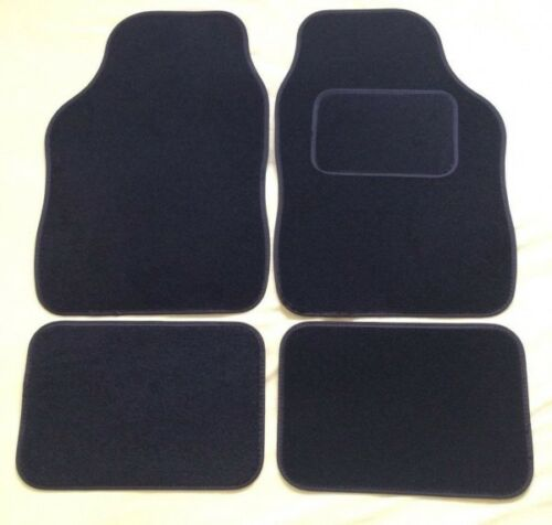 4 PIECE BLACK CAR FLOOR MAT SET PEUGEOT 306 93-01