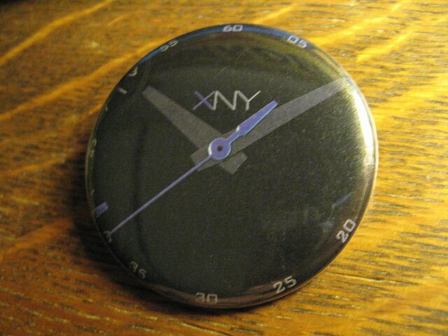 XNY Seiko Japan Black Blue Wrist Watch Logo Advertisement Pocket Lipstick Mirror