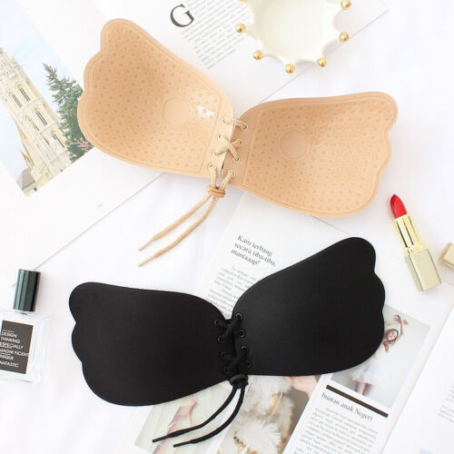Silicone Adhesive Stick On Push Up Gel Strapless Invisible Cup Backless Bra ABCD