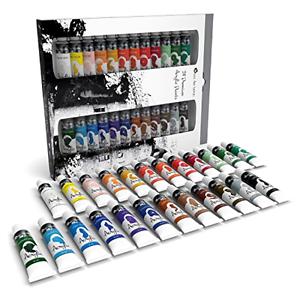 Art Supplies Acrylic Paint, Art Supplies Set,Acrylic Paint Set 24, 12ml Tube