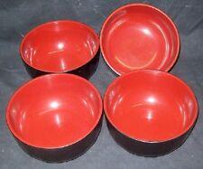 Restaurant Equipment Bar Supplies 4 Medium Black Plastic Bowls Dishes