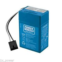 Power Wheels Blue Battery 6v Toddler 00801-1900 6 Volt Fisher Price