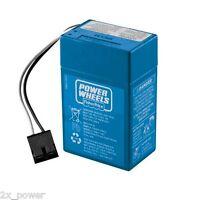 Power Wheels Blue Battery 6v Toddler 00801-1900 6 Volt Fisher Price