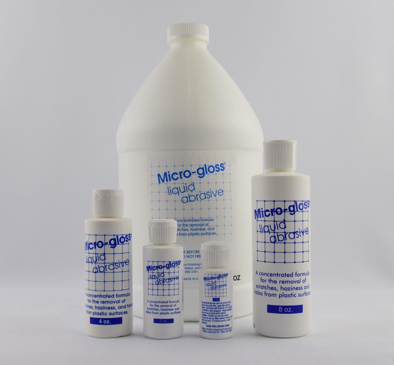 MICRO-GLOSS LIQUIDE abrasif - 1 oz (environ 56.70 28.35 g), 2 oz (environ 56.70 (environ g), 8 oz (environ 226.79 g) bouteilles disponibles c17af0