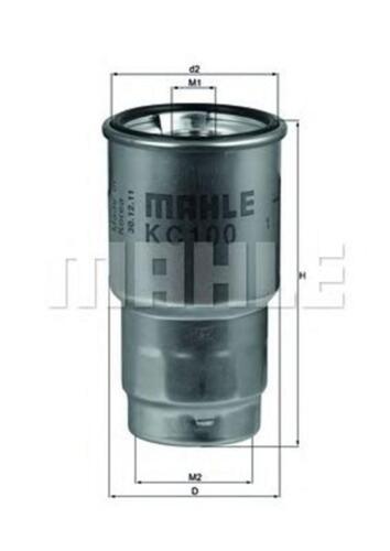 kc100d MAHLE//Knecht Carburante Filtro KC 100d