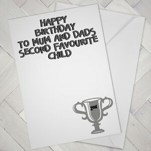 Funny birthday card brother sister favourite child humour cheeky image is loading funny birthday card brother sister favourite child humour bookmarktalkfo Images