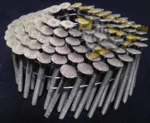 1 3//4 x .120 Ringshank 304 Stainless Steel Coil Roofing Nails 1800ct