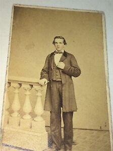 Antique-American-Civil-War-Victorian-Fashion-Gent-Philadelphia-PA-CDV-Photo-US