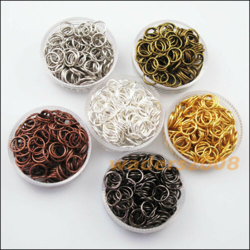 50 New Gold Dull Silver Bronze Copper Black Plated Jump Ring Open Connector 20mm