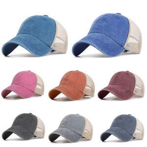 c37694fb3ff Men Women Baseball Cap Washed Old Style Mesh Hat Retro Unisex Hats ...
