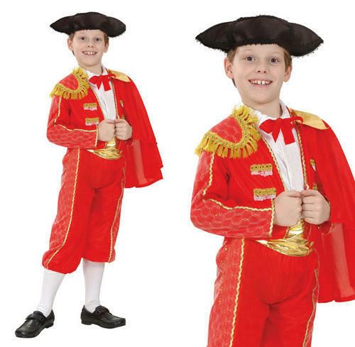 Childrens Matador Fancy Dress Costume Bull Fight Spanish Outfit Childs Kids S