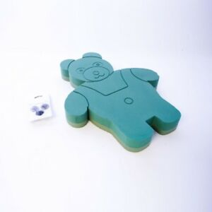 Marcos de espuma oasis ® ® de pie de oso de peluche con ojos y nariz SKU 8265