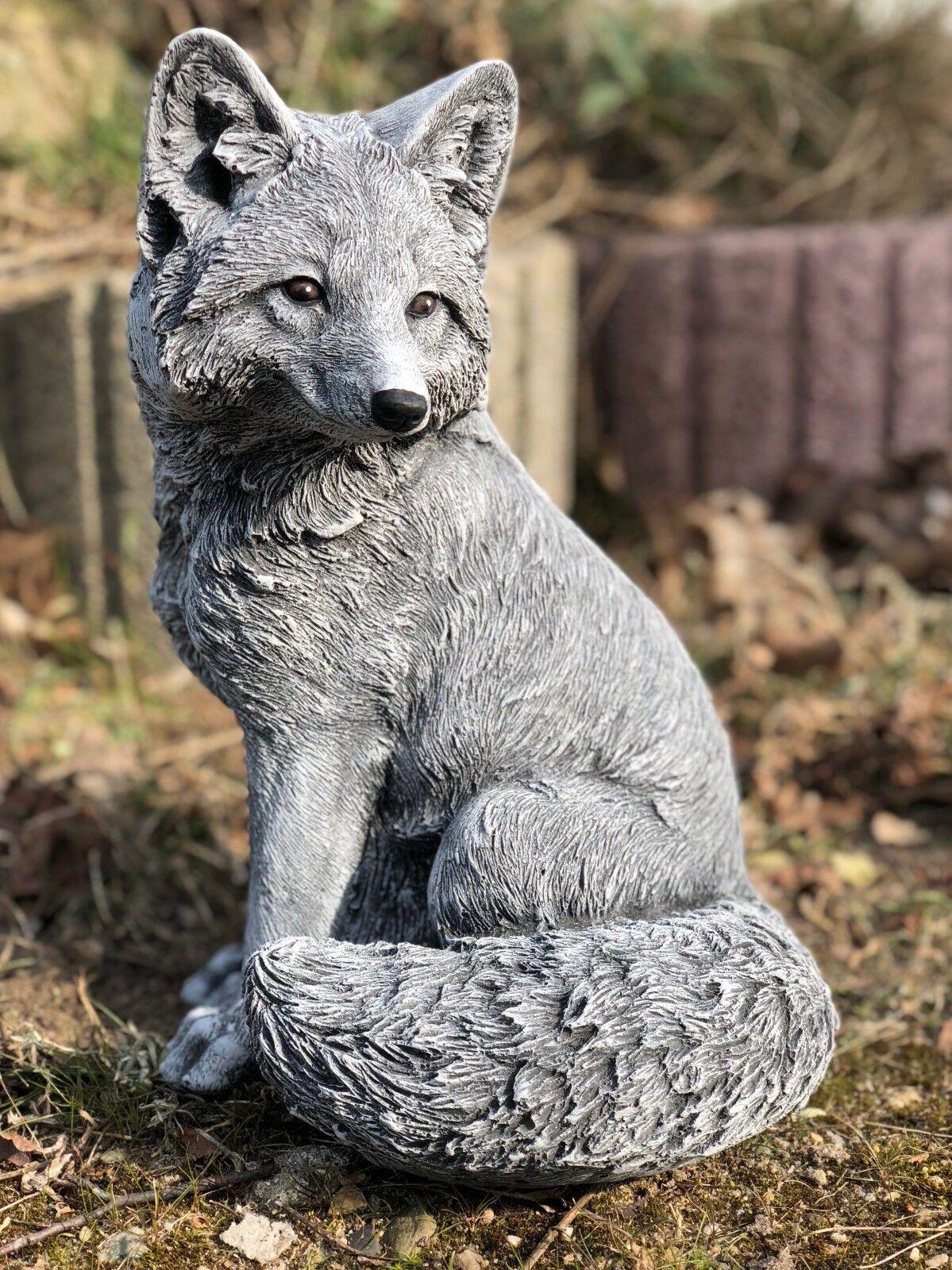 Figuras Piedra Grande Fuchs Resistente Heladas de Jardín a la Intemperie