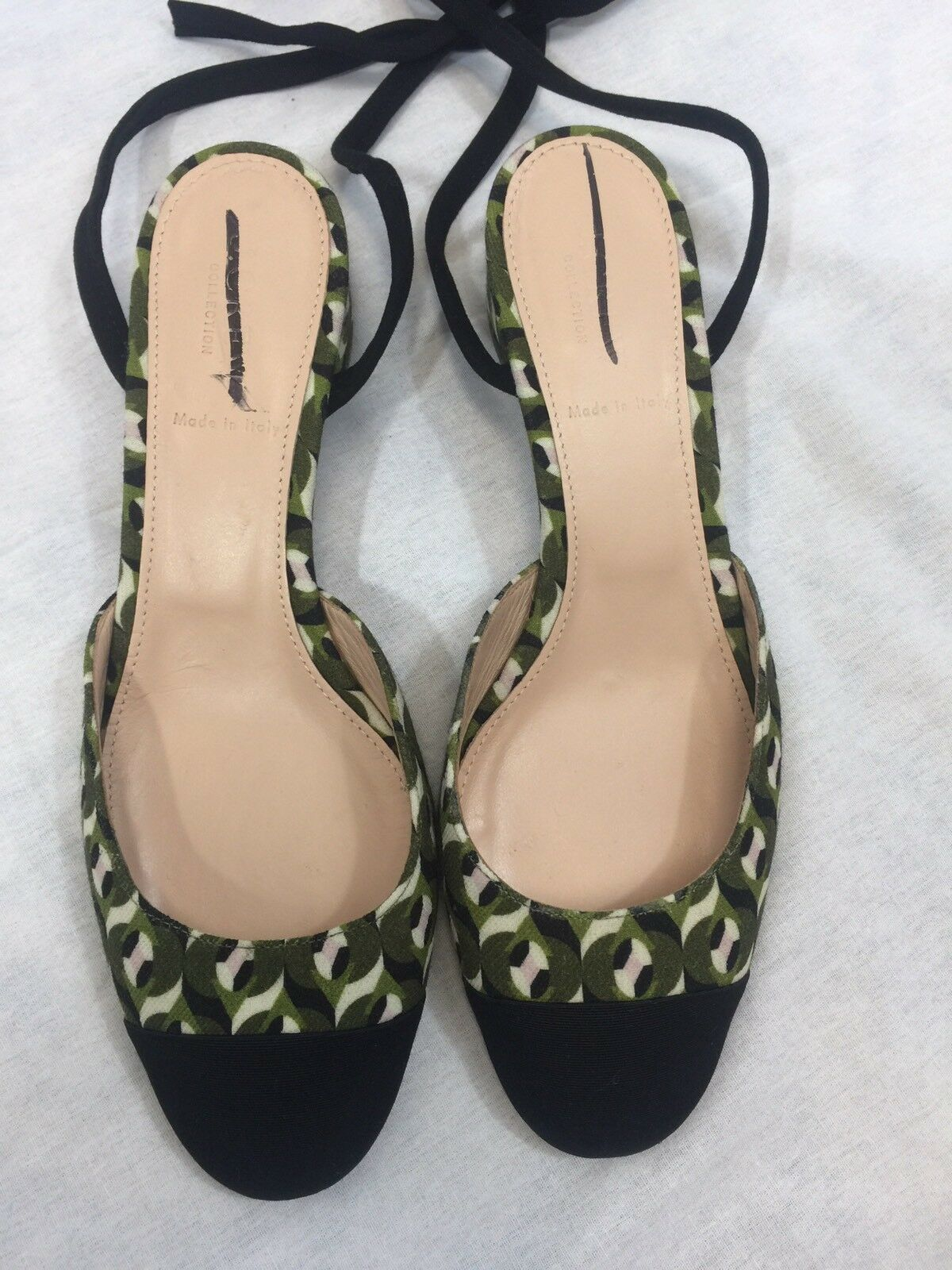 JCrew Collection ankle-wrap heels in Ratti geometric tile print F8013  268 Size9