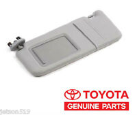 Driver's Driver Left Side Sun Visor Gray Vanity Light Genuine Toyota Camry