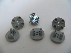 Lego-6-trains-d-atterissage-6426-1070-6597-6434-6-old-light-gray-wheels-holder