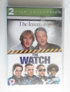 The-Internship-amp-The-Watch-DVD-NEW-AND-SEALED-Comedy-bundle-2-film-double-pack