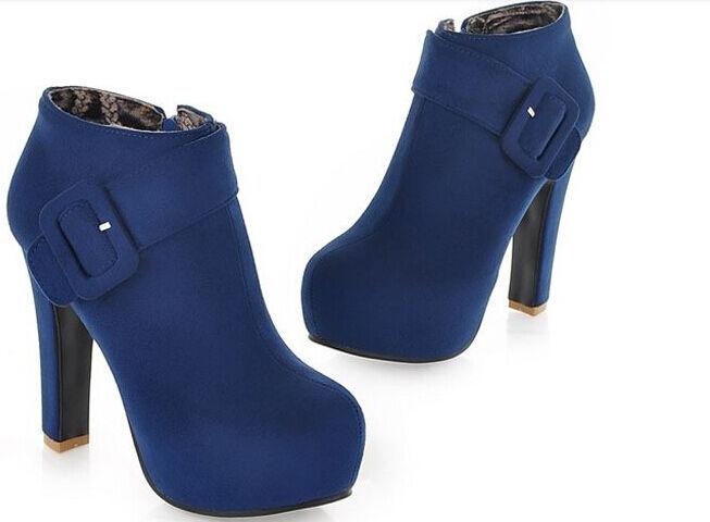 Stiefeletten stiefel damenschuhe absatz 12 cm mode simil leder komfortabel 9017 9017 komfortabel 875354