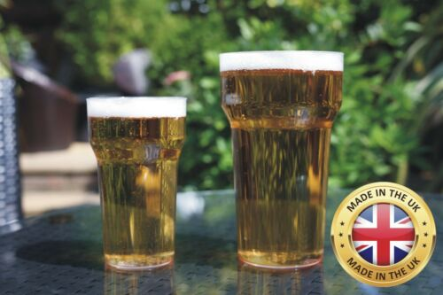 20oz CE Marked Plastic Pint Glasses Pack of 10 Reusable