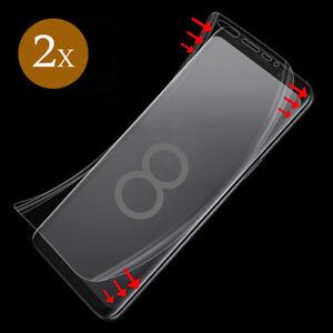 2x Panzer Folie für Samsung Galaxy S8 Display Schutz Folie 3D Full Cover KLAR